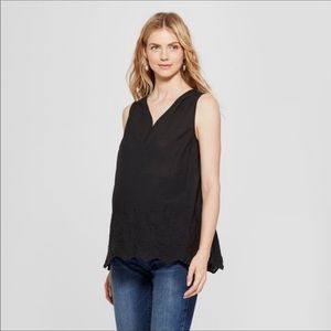 NWT Ingrid & Isabel Maternity Embroidered Top